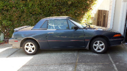 A 91 Mercury Capri with removable hardtop