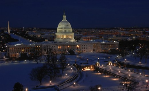 Capitol Hill in winter.
