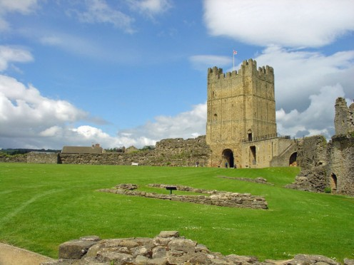 Richmond Castle is one of Britain's hidden gems. Its 12th Century keep stands 100ft high.