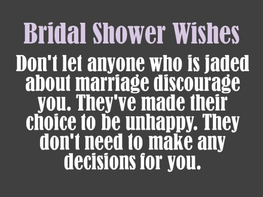 wise bridal shower message