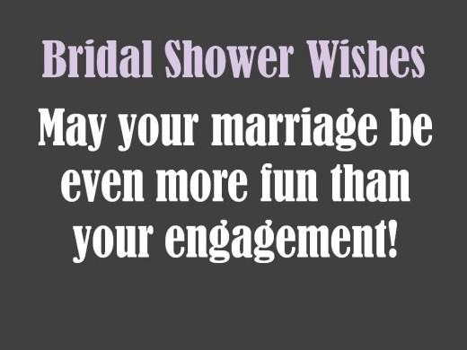 positive bridal shower card wish
