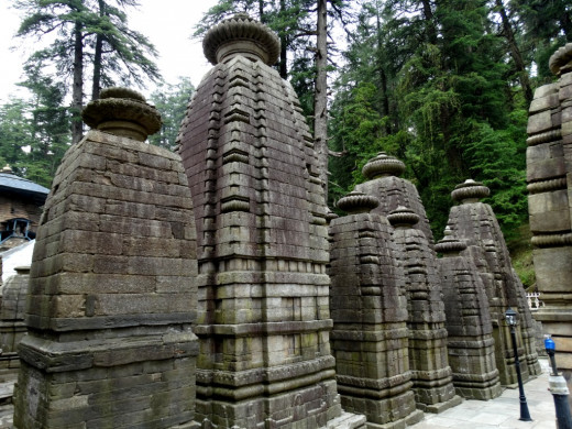 Rows of temples in the Jageswar temple complex