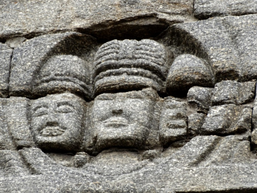 Stone carving on Nageswar temple