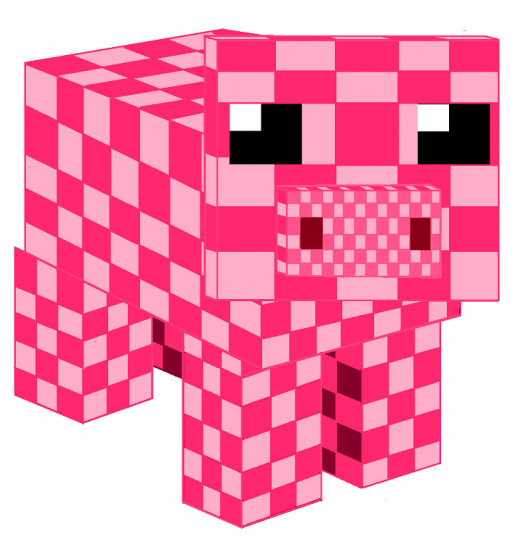 This is my rendition of the Minecraft pig,  Not bad, not bad at all, :) .