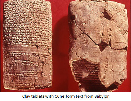 Cuneiform clay tablets