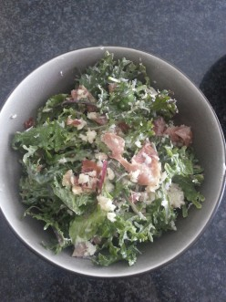 Kale, Chard, Spinach Salad with Prosciutto Recipe