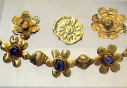 Ancient Jewelry of Kushan period in 2nd centuryAD