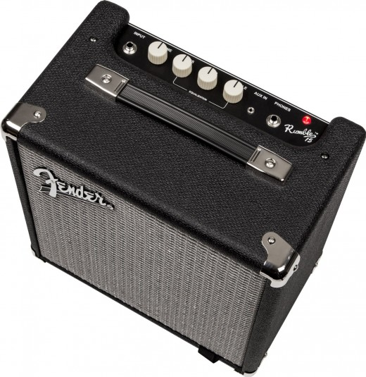 Fender Rumble 15 v3 top panel.
