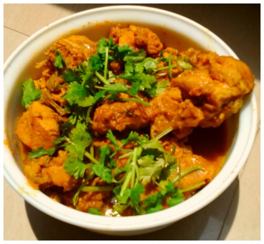 The India chicken curry