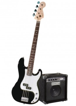 A Squier by Fender Starter Pack is a great idea for beginners.