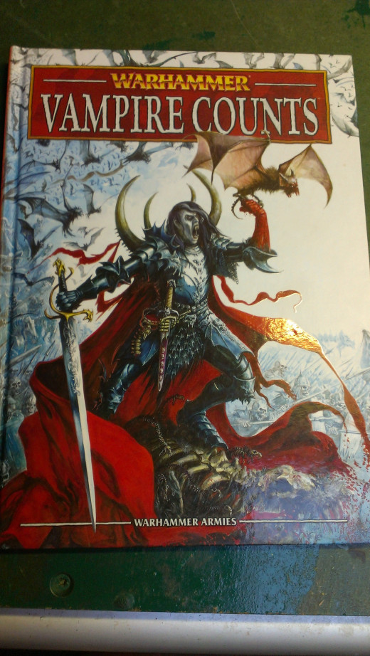 A photo of the Vampire Counts 8th edition book.