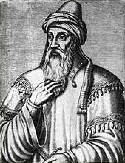 Artistic representation of Saladin.