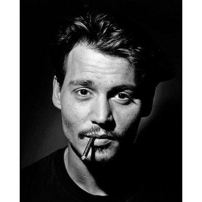 "ohnny Depp (Smoking, B&W) Glossy Movie Photo Photograph Print John Christopher ""Johnny"" Depp II (born June 9, 1963)"