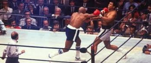 Muhammad Ali took some big shots from Earnie Shavwrs but ultimately he prevailed with his higher skill level.