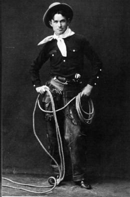 Will Rogers loved performing his cowboy skills and tricks.  Commentary just sort of snuck into the act.