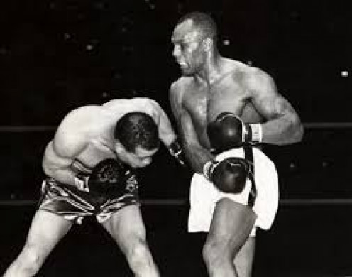 Joe Louis knocked out Jersey Joe Walcott in the 11th round in defense of his heavyweight crown.