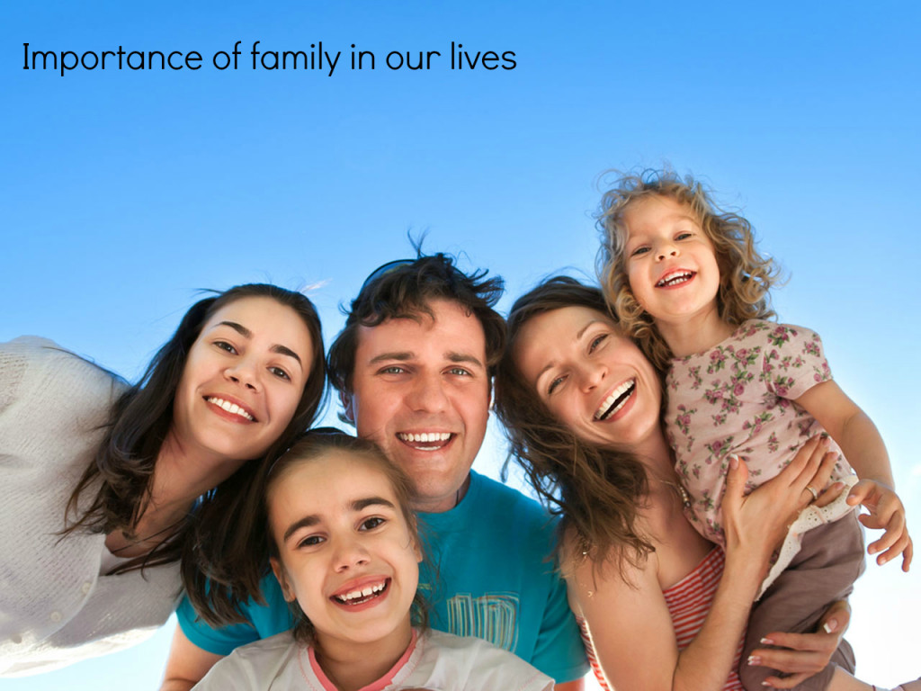 the importance of family in our lives What role do families play in our lives advertisement spouse to parent, who we are is characterized by our place in the family important: this content.