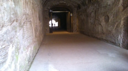 Inside an ancient tunnel at the Forum