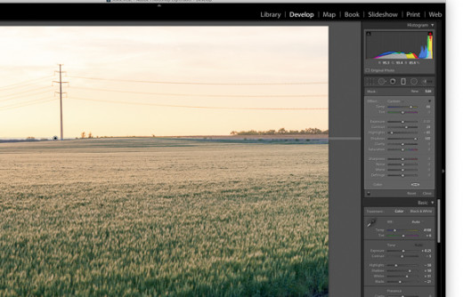 Lightroom with Graduated Filter