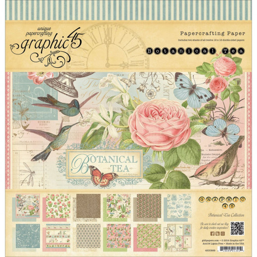 Graphic 45 patterned scrapbook paper pad.