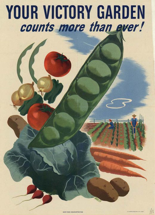 WWII Victory Garden campaign poster