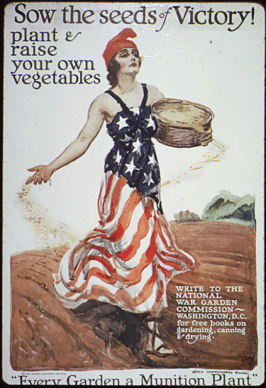 WWI Victory Garden campaign poster