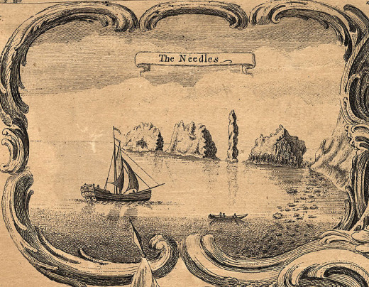 The original Needles had a fourth needle-resembling chalk stack but this collapsed in 1764!