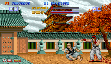 Ryu vs. Retsu in Street Fighter