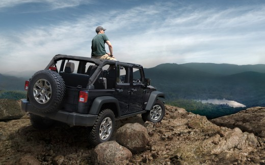 Be sure to follow all instructions in Owner's Manual for removal of top, doors and lowering of windshield. Driving with the doors off and windshield down is for off-road use only.
