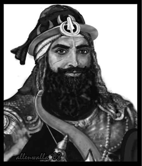 A Painting of the Sikh Lion Hari Singh Nalwa