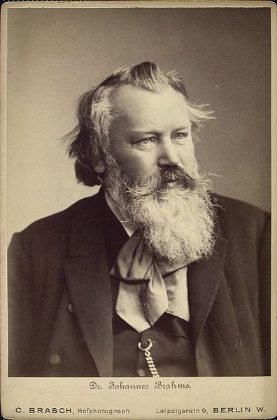 A portrait of Johannes Brahms in 1889 at the peak of his career