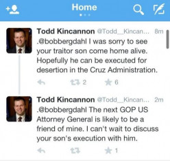 What do you think of a politician who tells a father his son will be executed?