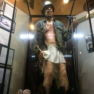 Model of GG Allin wearing the clothes he was found dead in at The Museum of Death's Resurrection of GG Allin exhibit in Hollywood, CA