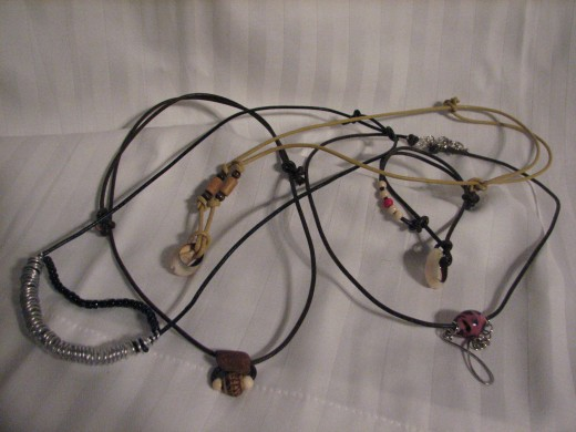 using cord is a fun way to make nice handcrafted jewelry and is easily adapted to group situations for a classroom activity