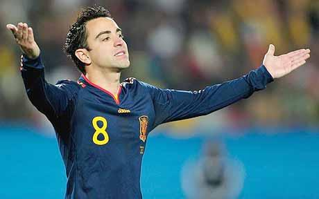 Xavi (Barcelona) - Calls all the shots in Spain's midfield