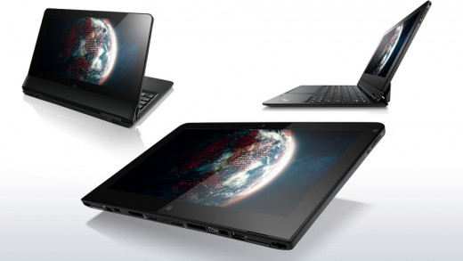 "The Ultimate Choice? Lenovo's ThinkPad Helix convertible tablet comes equipped with Intel's i7-3667U (4M Cache, up to 3.20 GHz), 10 hours of battery life, 8 GB of RAM, an 11.7"" screen, Windows 8, a light weight of 1.8 lbs, and up to 256GB of storage."