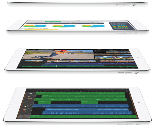 Apple's renowned iPad Air comes with free apps, including Garage Band.