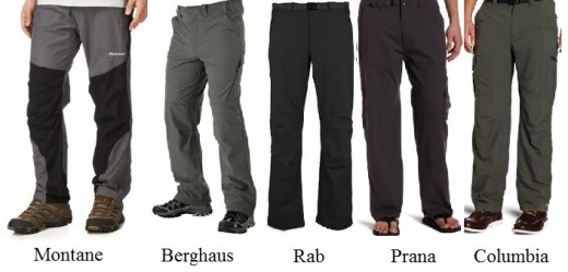 The Best Five Hiking Pants in 2014