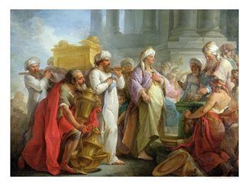 Solomon bringing in the Ark of the Covenant