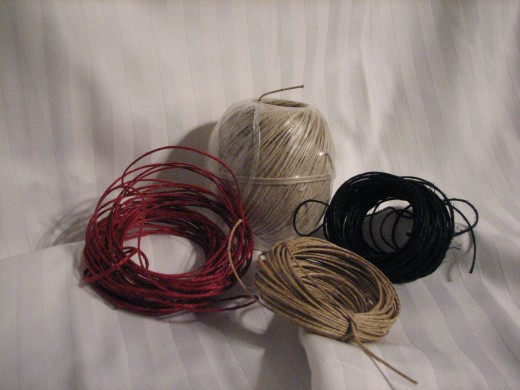 hemp is a popular string used to make jewelry and comes in a variety of colors