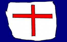 The cross of Saint George became the symbol for England.