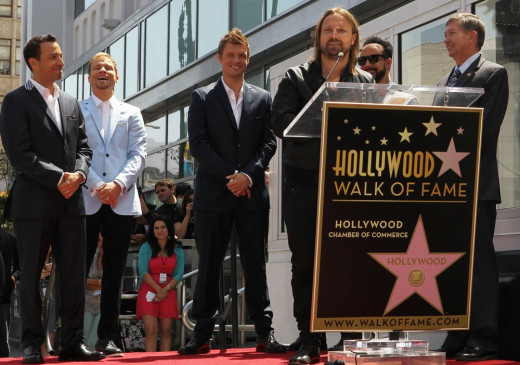 Max Martin at the presentation of the Backstreet Boys' star on the Hollywood Walk of Fame.