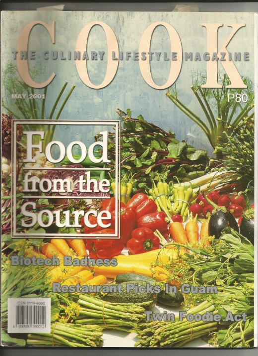 May, 2001 issue of Cook Magazine, when I was still working as executive editor of the publication