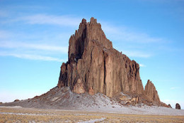 Shiprock is a natural landmark in northwestern New Mexico, visible for many miles in all directions