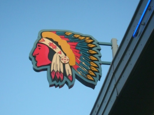 This Indian Head icon can be found along Central Ave. in Albuquerque