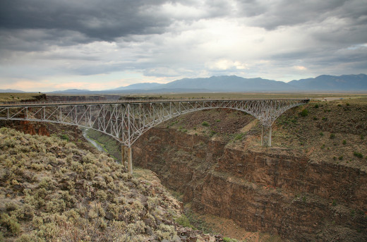 The Taos Gorge bridge clears the Rio Grande by a good 800 feet