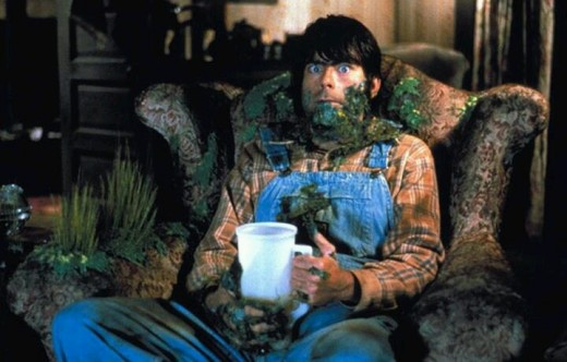 "Stephen King portrayed a farmer that comes under attack by fertile alien life forms in ""Creepshow""."