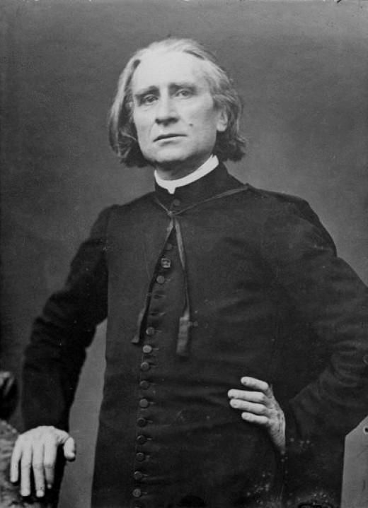 A portrait of Franz Liszt by Pierre Petit