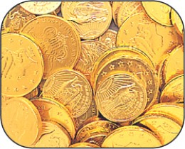 photo credit, The Candy Warehouse. Chocolate Coins available at The Candy Warehouse.
