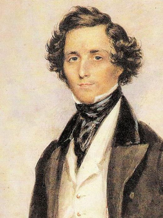 A watercolor painting of Felix Mendelssohn